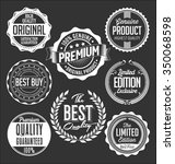 badges collection. white on a... | Shutterstock .eps vector #350068598
