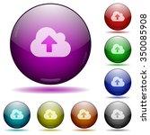 set of color cloud upload glass ...