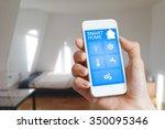 smart home automation app on... | Shutterstock . vector #350095346