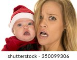 a mother with a stressed... | Shutterstock . vector #350099306