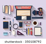workplace concept. business... | Shutterstock .eps vector #350108792