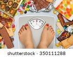 unhealthy diet   overweight.... | Shutterstock . vector #350111288
