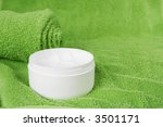 creme and towel | Shutterstock . vector #3501171
