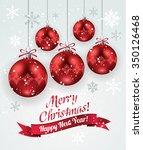 christmas decoration with red...   Shutterstock .eps vector #350126468