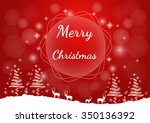 christmas red background... | Shutterstock .eps vector #350136392