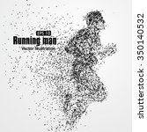 running man  particle divergent ... | Shutterstock .eps vector #350140532