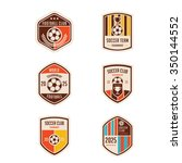 set of football crests and logo ... | Shutterstock .eps vector #350144552