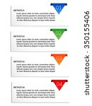 hierachy number infographic ... | Shutterstock .eps vector #350155406