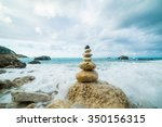 sea dramatic landscape  harmony ... | Shutterstock . vector #350156315