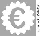 euro award seal vector icon.... | Shutterstock .eps vector #350162366