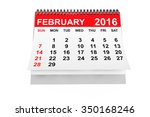 2016 Year Calendar. February...