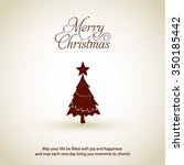 merry christmas card  stylized... | Shutterstock .eps vector #350185442