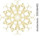 old circular pattern... | Shutterstock .eps vector #350186402