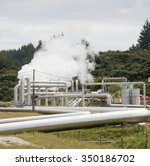 geothermal power production... | Shutterstock . vector #350186702