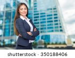 business woman smiling | Shutterstock . vector #350188406