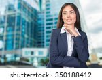 business woman smiling   Shutterstock . vector #350188412