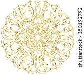 gold circular pattern...   Shutterstock .eps vector #350192792
