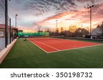 tennis court at a private... | Shutterstock . vector #350198732