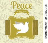 message of peace design  vector ... | Shutterstock .eps vector #350202218