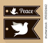 message of peace design  vector ... | Shutterstock .eps vector #350202662
