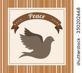 message of peace design  vector ... | Shutterstock .eps vector #350202668