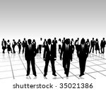 business people | Shutterstock .eps vector #35021386