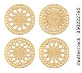 laser cut wood coasters.... | Shutterstock .eps vector #350222762