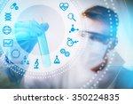 biotechnology researcher...   Shutterstock . vector #350224835