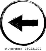 back arrow icon | Shutterstock .eps vector #350231372