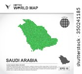 map of saudi arabia dotted... | Shutterstock .eps vector #350241185