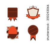 set of blank vintage retro... | Shutterstock .eps vector #350243066