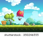 seamless background blimp above ... | Shutterstock .eps vector #350246555