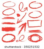 hand drawn arrows and graphic... | Shutterstock .eps vector #350251532