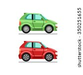 set of two isolated cars in... | Shutterstock .eps vector #350251655