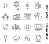 technology icon set suitable... | Shutterstock .eps vector #350253236