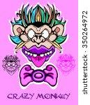 crazy monkey. logo.  | Shutterstock .eps vector #350264972