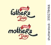 happy mother's day. father's... | Shutterstock .eps vector #350278466