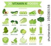 20 vitamin k foods  info... | Shutterstock .eps vector #350280158