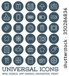 30 universal icons set for all... | Shutterstock .eps vector #350286836