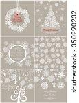 paper pastel design for winter... | Shutterstock . vector #350290232