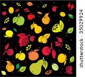 fruity bright backdrop. vector. | Shutterstock .eps vector #35029924