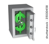 dollar symbol of steel in a... | Shutterstock . vector #35030458
