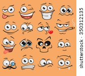 cartoon faces set | Shutterstock .eps vector #350312135