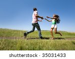 photo of young man and woman... | Shutterstock . vector #35031433