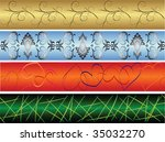 4 seamless colorful banners.... | Shutterstock .eps vector #35032270
