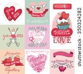 wedding day love romantic... | Shutterstock . vector #350324282