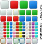 color metallic rounded square...