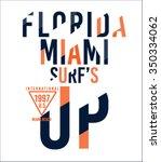surf sport florida miami... | Shutterstock .eps vector #350334062