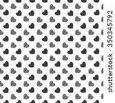 vector seamless heart pattern | Shutterstock .eps vector #350345792