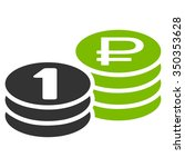 rouble coin stacks vector icon. ... | Shutterstock .eps vector #350353628